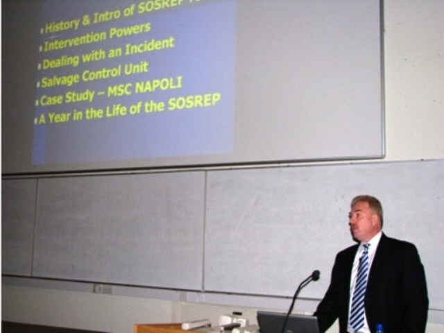 SOSREP delivers the Law School's Public Lecture