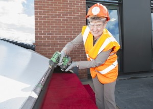 Jane Hutt topping out Innovation Hub