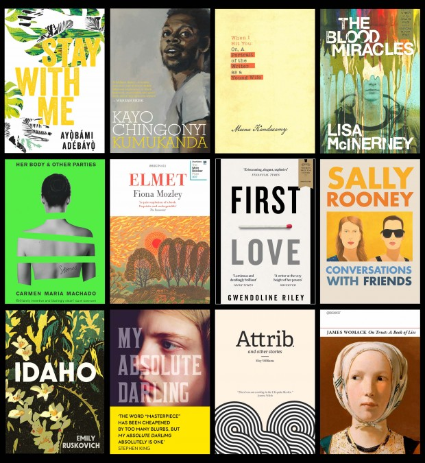 2018 Longlisted author book cover grid