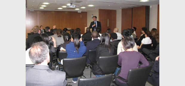 LLM students attending the presentation at the Ince & Co's offices in London