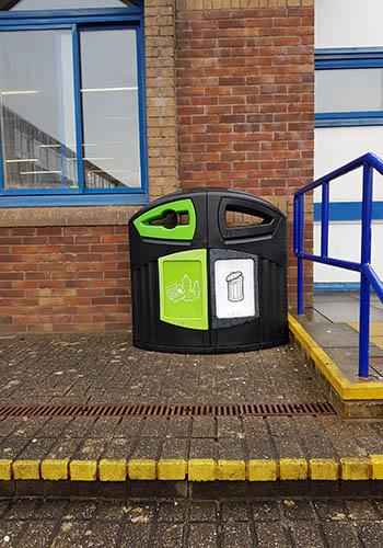 School External Recycling Bin