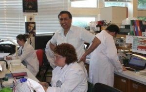 Tariq and team in lab