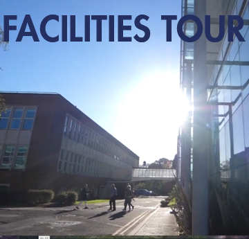 Facilities Tour. Midday sun shining across the front of ILS1