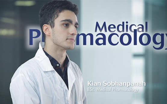 Thumbnail image of Medical Pharmacology Student Kian on the course video.