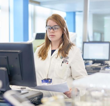 woman in a lab
