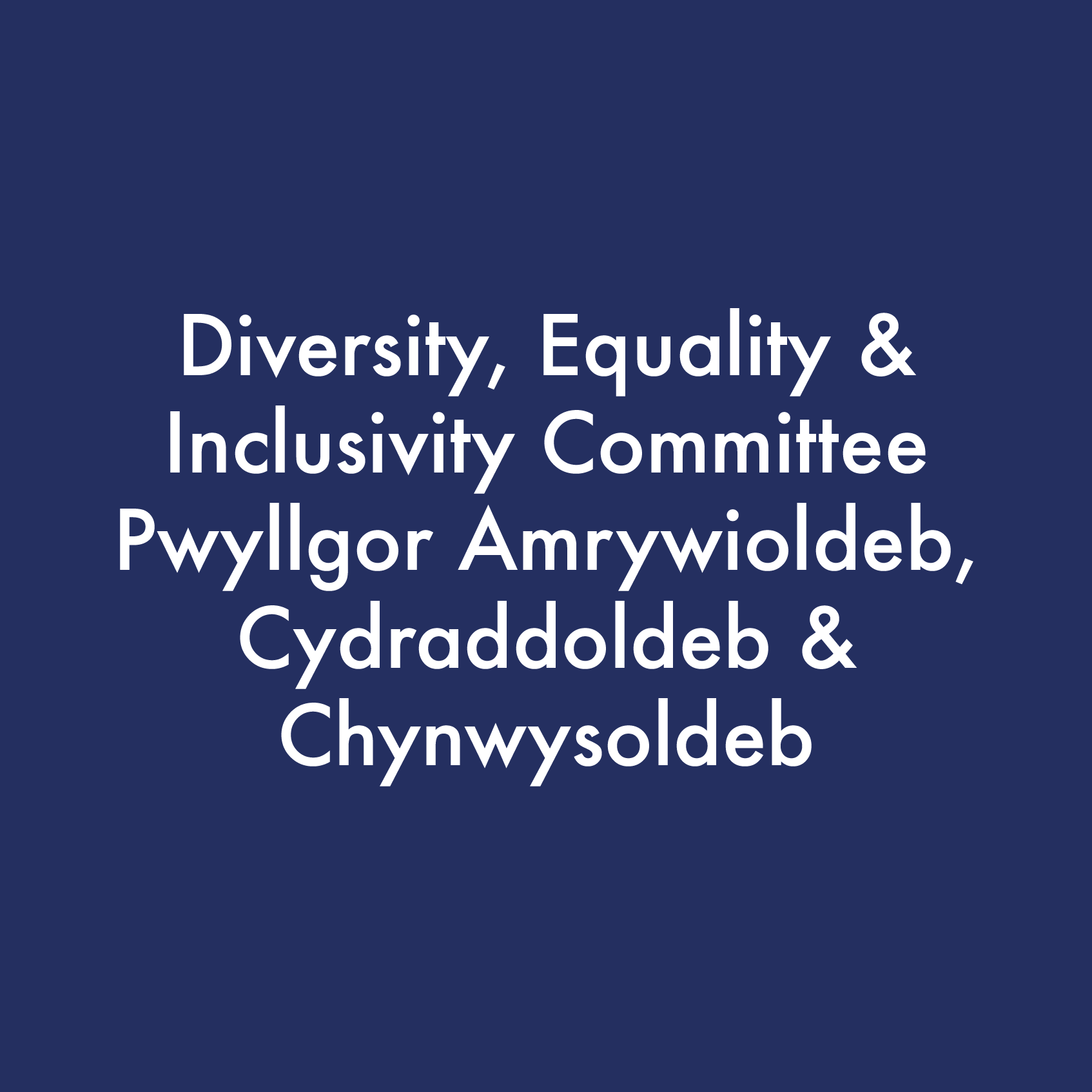 Diversity, Equality and Inclusivity Committee logo