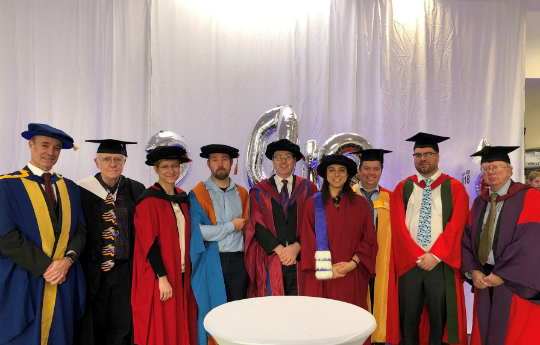 The PCS staff at winter graduation 2018