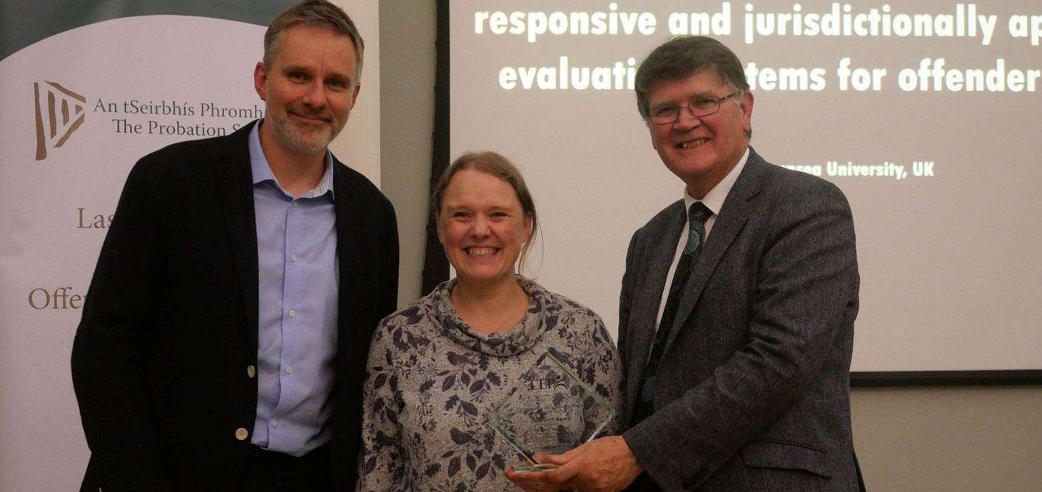 Dr Bridget Kerr Collects Award from the Confederation of European Probation