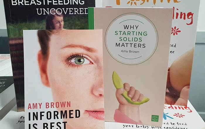 Images of books written by Professor Amy Brown.