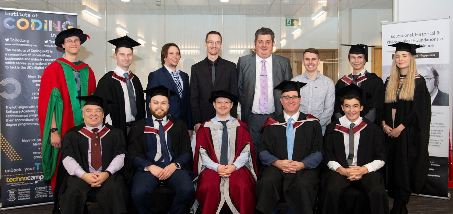 Swansea University celebrates first degree apprenticeship graduates in Wales