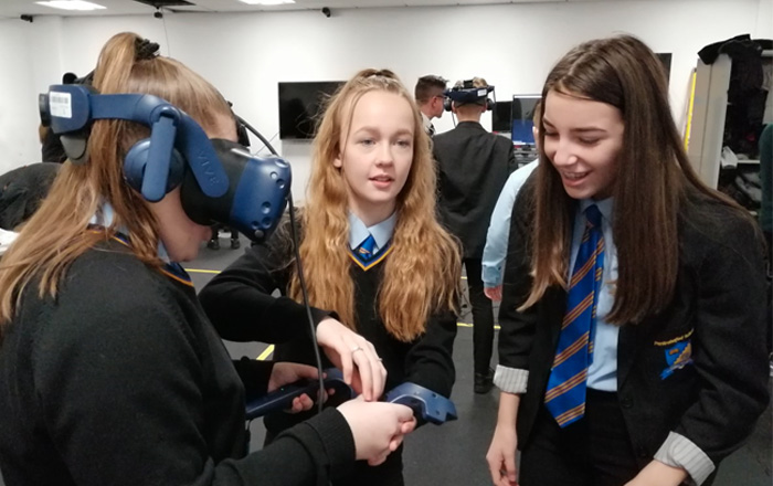 School pupils putting VR technology to the test