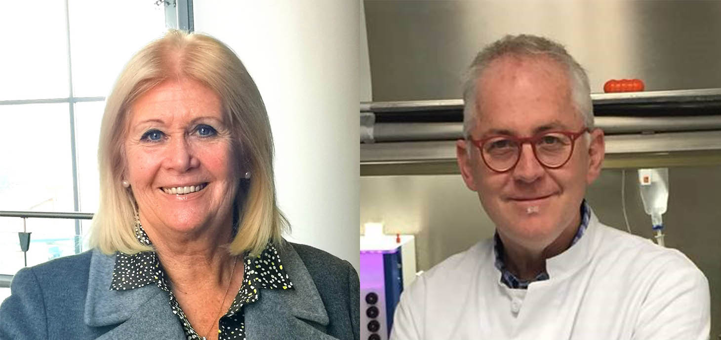 Mair Davies and Dr Neil Hartman have both been given Honorary Professor appointments ahead of the new MPharm degree launching at Swansea University in 2021