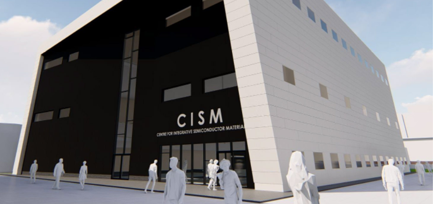 A new UKRI funded £29.92M state-of-the-art facility called the Centre for Integrative Semiconductor Materials (CISM) due for completion in 2022 at Swansea University's Bay Innovation Campus.