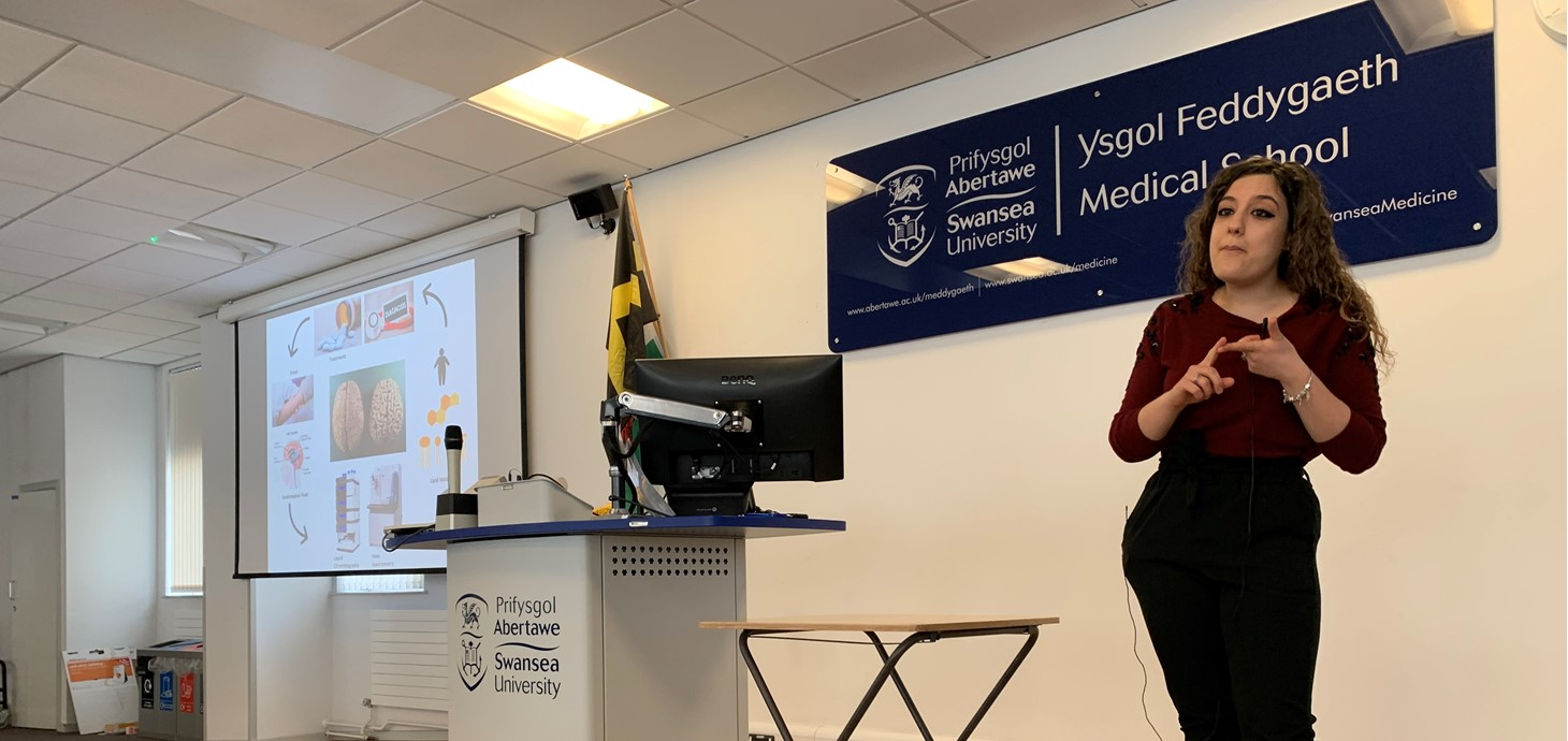 PhD student wins Swansea University 3MT competition final