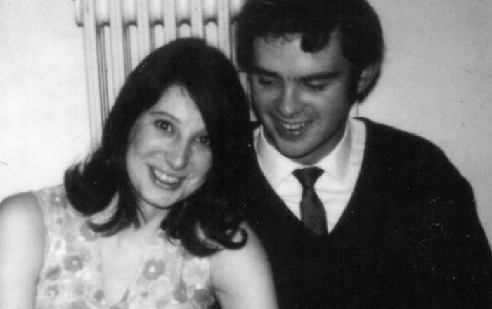 Bob and Sandra Cuthill, who met when they were both students at Swansea, pictured as they celebrated their engagement.