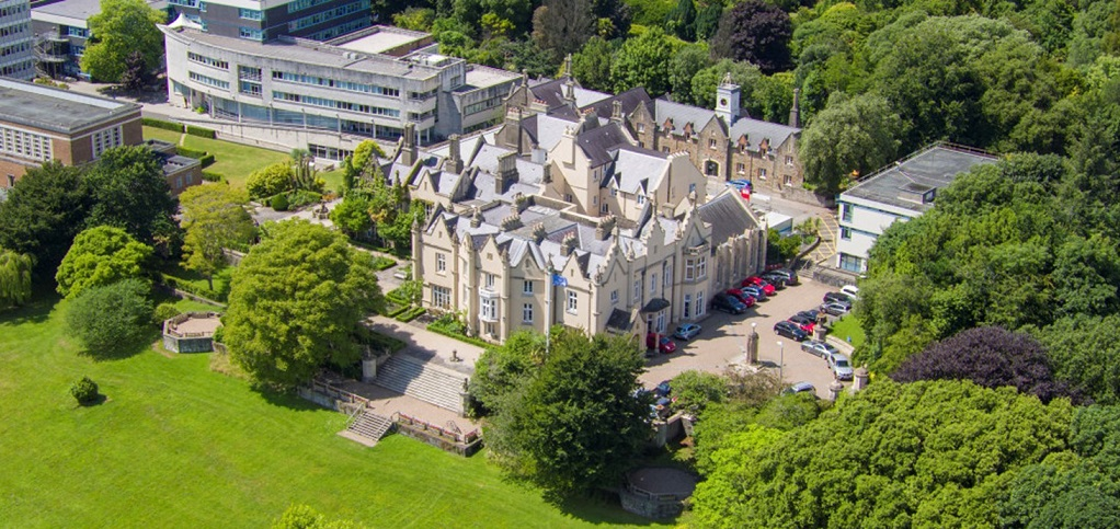 Aerial picture of Singleton Abbey.