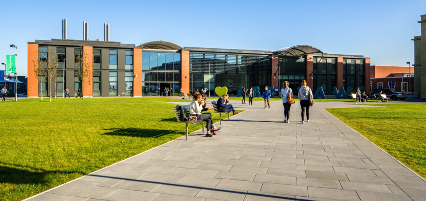 Engineering walking at the Bay Campus.