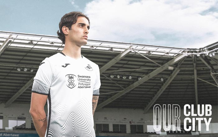 University unveiled as Swansea City's new front of shirt sponsor