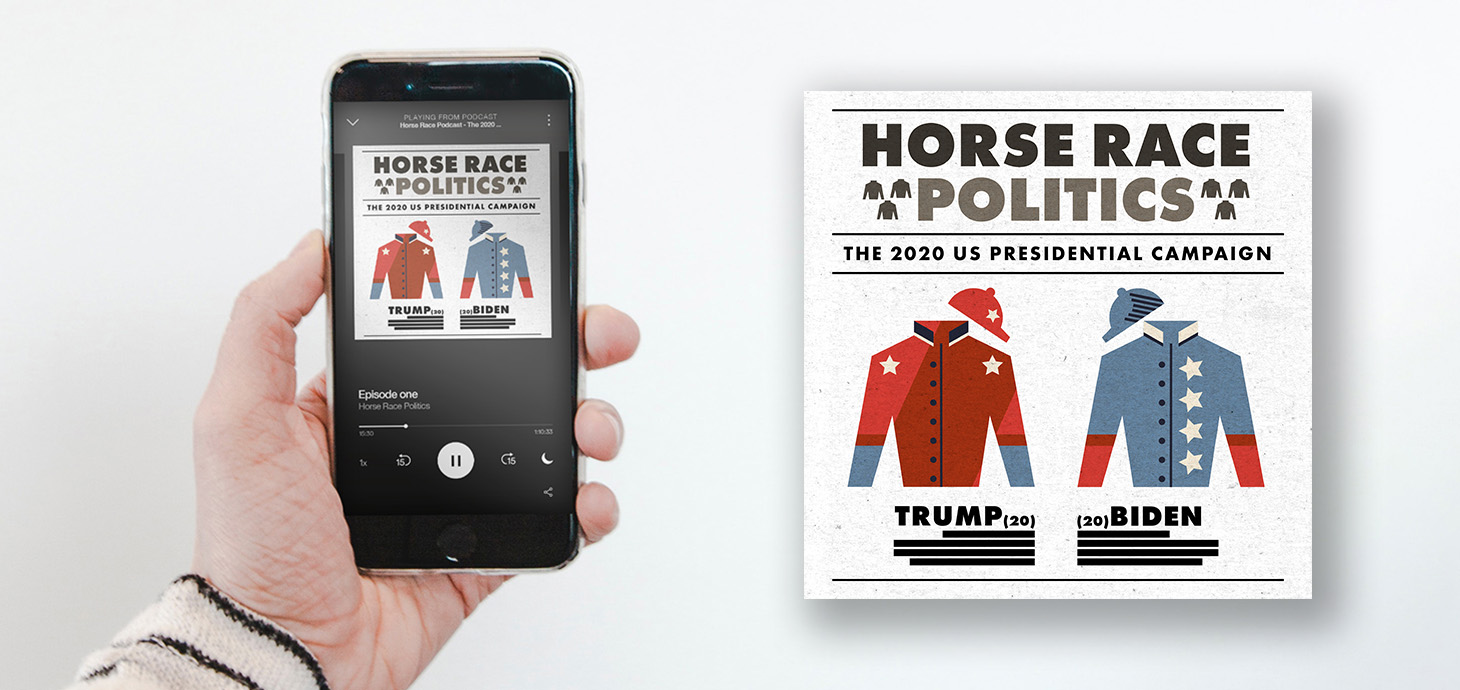 Horse Race Politics podcast displayed on an iPhone