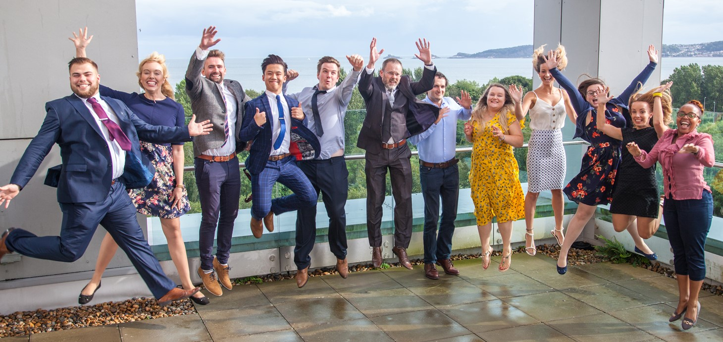 Medical School course records triple exam success . Successful students celebrate graduating from the PA course in 2019.