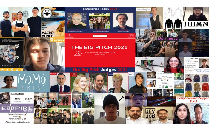 Businesses and judges: twenty-three entrepreneurial students pitched 19 different ideas to the judges, who awarded more than £22,000 to 10 start-ups.
