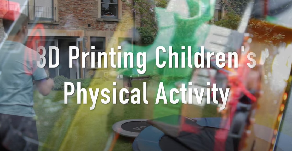 Screenshot of presentation on physical activity and children
