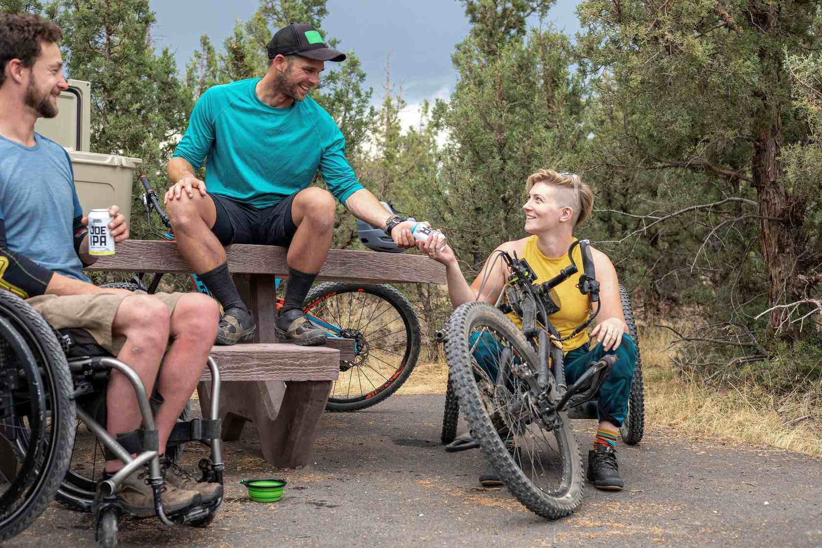 People with disabilities on bikes