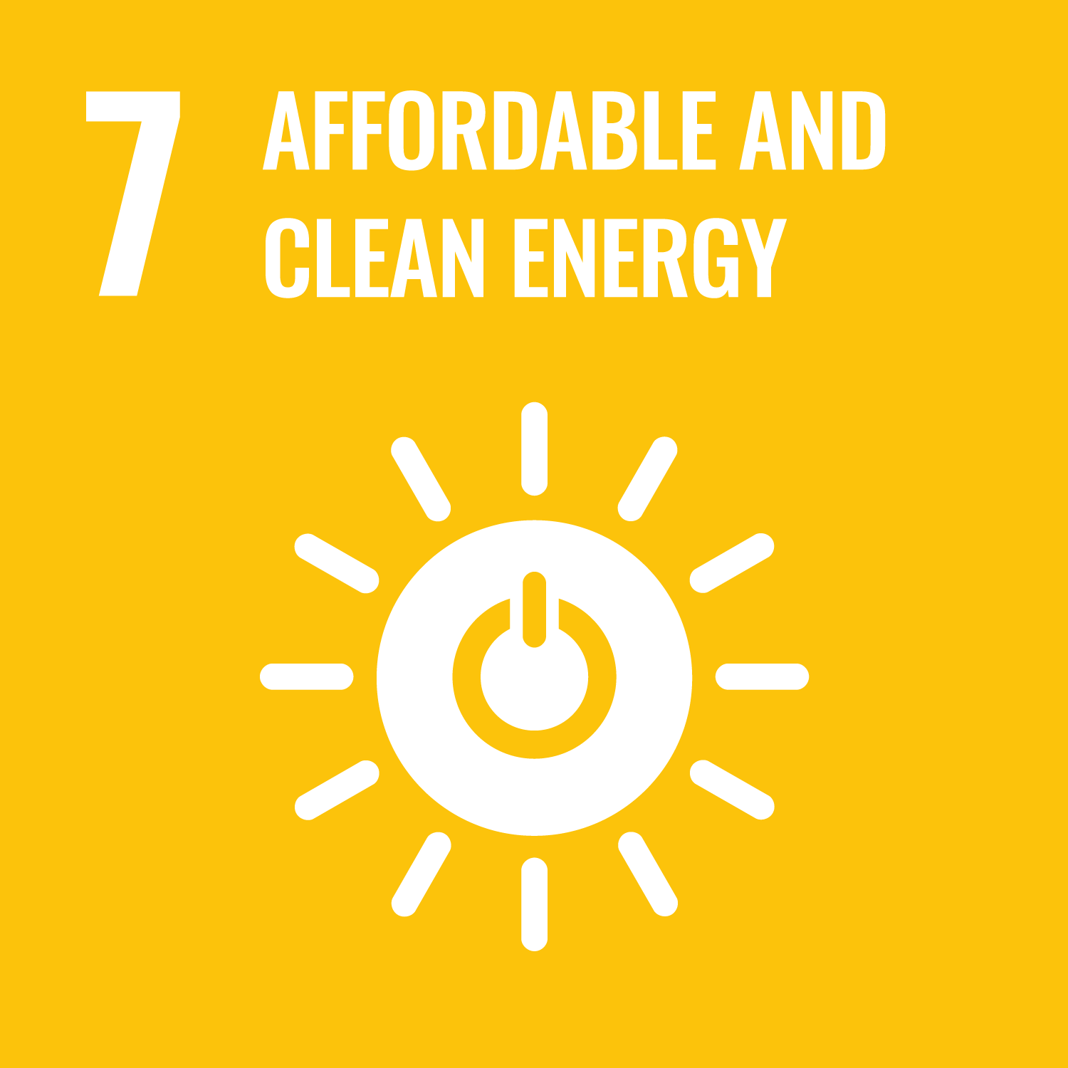 UN Sustainable goal - Affordable and clean energy