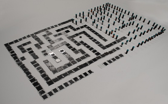 Maze made from photo negatives