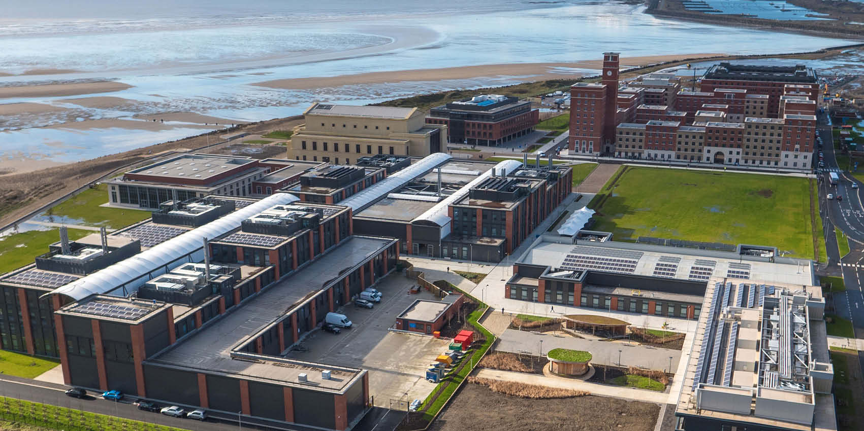 Swansea University Bay Campus overhead image