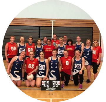 Staff Netball Team Photo After Game