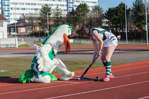 Hockey image with mascot