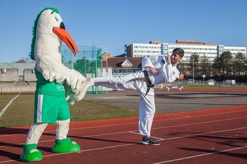 Karate with mascot