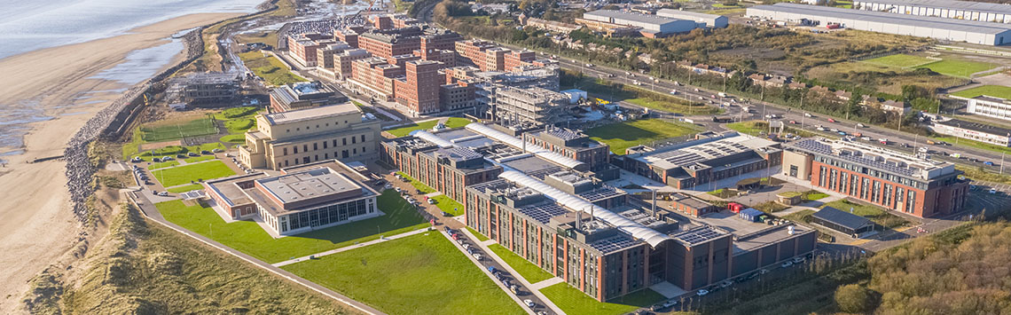 Aerial image of Bay Campus