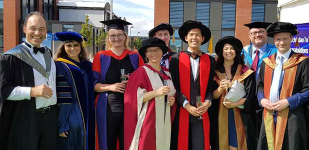 the Classics, Ancient History, Egyptology staff at their students graduation