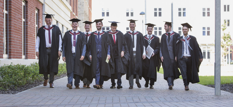 Male students at graduation
