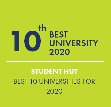 10th Best University Award Graphic - Student Hut - 10 Best Universities for 2020