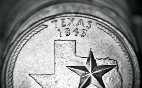 Quarter coin from Texas