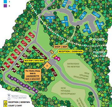 Student Village residence map snap shot