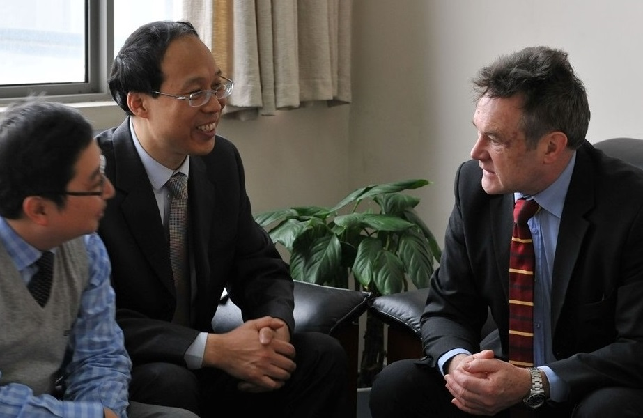 Meeting between dotcors from Swansea and Wuhan